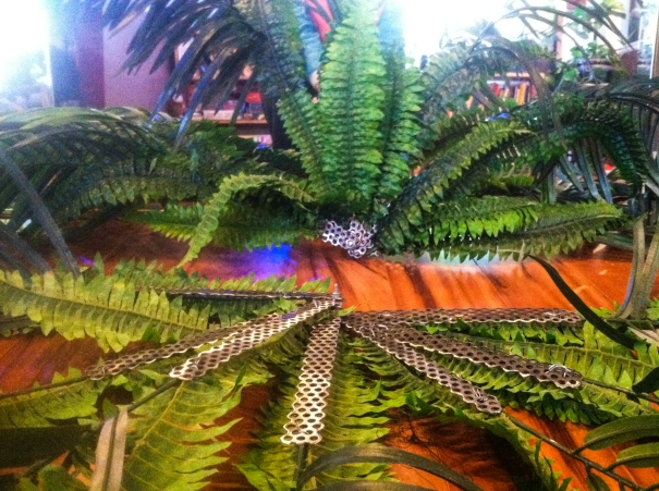 Finished palm fronds, they have performed at Analog Cafe (SE Portland) so far.