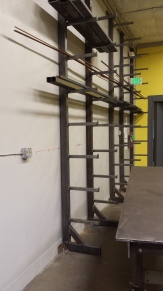 Steel racks welded together and installed.