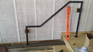 The partner to the complicated handrail, this one was considerably easier.