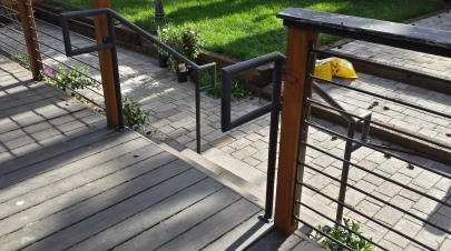 Handrails for a back deck.