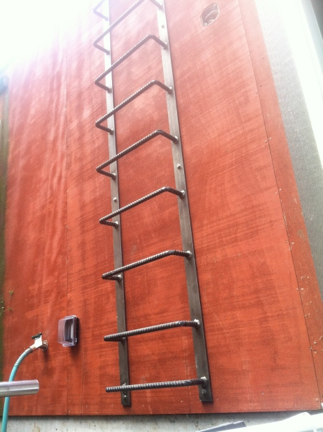 Installed ladder.