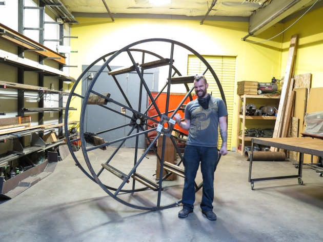 The wheel that created this whole project, 100% of this bench was made from the parts on this wheel.